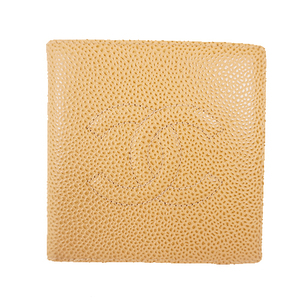 Auth Chanel Two-fold Wallet Women's Caviar Leather Long Wallet