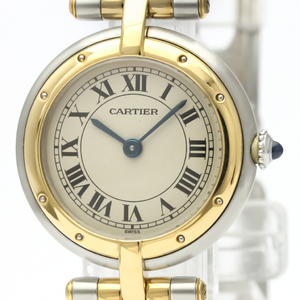 Cartier Panthere Round Quartz Stainless Steel,Yellow Gold (18K) Women's Dress Watch 166920