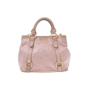 ミュウミュウ(Miu Miu) 2way hand bag レザー バッグ ピンク