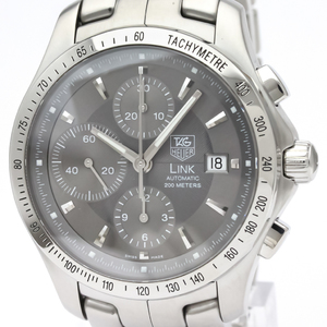 TAG HEUER Link Chronograph Steel Automatic Mens Watch CJF2115