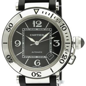 【CARTIER】カルティエ パシャ シータイマー ステンレススチール ラバー 自動巻き メンズ 時計 W31077U2