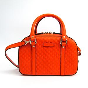 グッチ(Gucci) マイクログッチッシマ 510289 レディース レザー ハンドバッグ オレンジ
