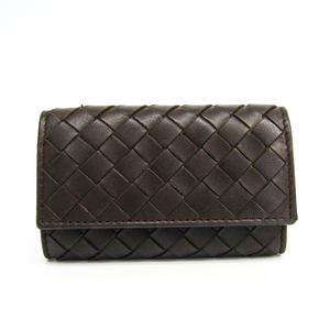 Bottega Veneta Intrecciato 130758  Lambskin Wallet Brown