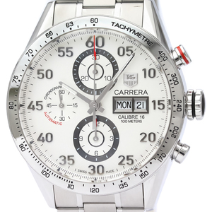 【TAG HEUER】タグホイヤー カレラ キャリバー16  クロノグラフ デイデイト ステンレススチール 自動巻き メンズ 時計 CV2A11