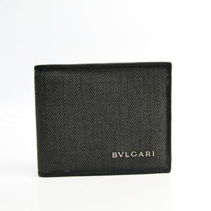 Bvlgari Weekend 32580 Leather,PVC Wallet (bi-fold) Black,Brown