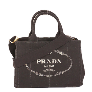 プラダ トートバッグ カナパ ブラック ゴールド