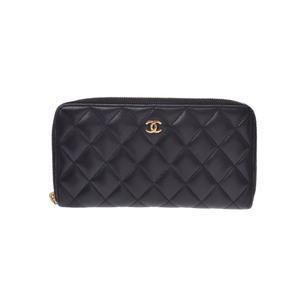 シャネル(Chanel) マトラッセ  ラムスキン 財布 ブラック