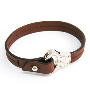 Louis Vuitton Archive Bracelet M6360D Leather Bracelet Brown