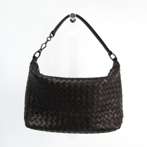 Bottega Veneta Intrecciato Leather Handbag Brown