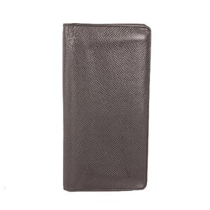 Louis Vuitton Taiga M32572 Men's Leather,Taiga Leather Long Wallet (bi-fold) Ardoise
