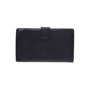 Chanel Leather Wallet Black