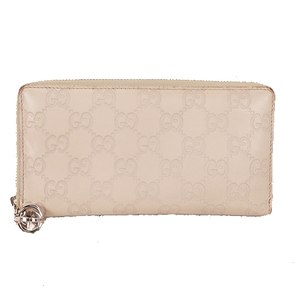 Gucci Guccissima 233025 Women's Leather Long Wallet (bi-fold) Beige