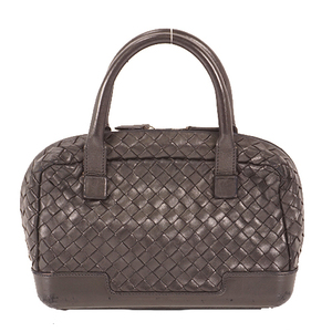 Auth Bottega Veneta Intrecciato  Women's Handbag Black