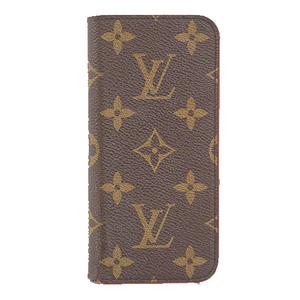 Auth Louis Vuitton Phone Flip Case Monogram IPHONE7+ IPHONE8+ FOLIO M61907
