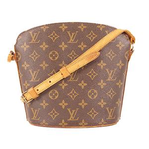 Louis Vuitton Monogram Drouot M51290 Women's Shoulder Bag Brown