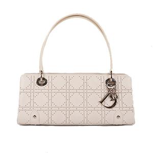 Auth Christian Dior Handbag  White