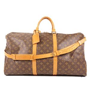 Louis Vuitton Monogram Keepall Bandouliere 55 M41414 Women,Unisex,Men Boston Bag Brown,Monogram