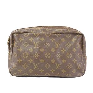 Louis Vuitton Monogram Trousse Toilette M47522 Unisex,Women,Men Clutch Bag,Pouch Brown