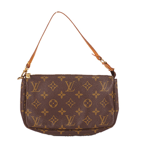 Louis Vuitton Monogram M51980 Women's Pochette,Pouch Brown