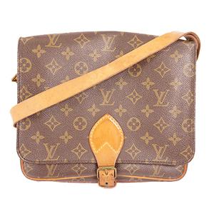 Louis Vuitton Monogram Cartouchiere M51252 Women's Shoulder Bag Brown