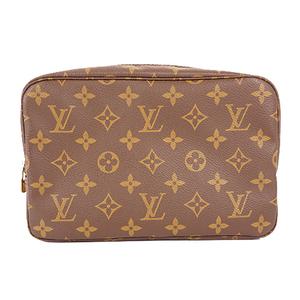 Louis Vuitton Monogram Trousse Toilette 23 M47524 Women's Clutch Bag,Pouch Monogram