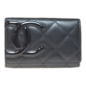 シャネル(Chanel) A50081 レザー カードケース ブラック,ピンク カンボンライン