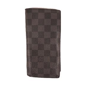 Louis Vuitton Damier Graphite N62665 Men's Leather,Damier Graphite Wallet (bi-fold) Black