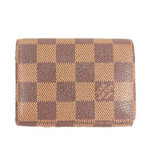 Louis Vuitton Damier Envelppoe Cartes De Visite N62920 Damier Canvas Business Card Case Brown