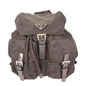 Prada  Tessuto Backpackpack Women's Nylon Backpack Black