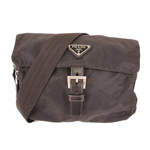 Prada Shoulder Bag Tessuto Women's Nylon Shoulder Bag Black