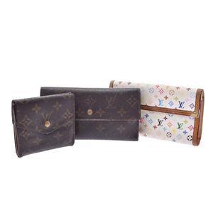 Louis Vuitton Monogram PVC Wallet Brown,Monogram Cherry,Multi-color,White