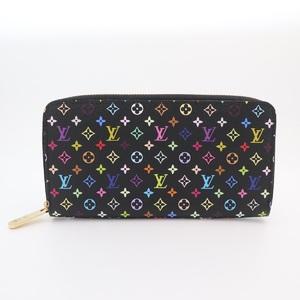 Louis Vuitton Monogram Multicolore Zippy Wallet M60243 Women's Monogram Multicolore Long Wallet (bi-fold) Grenade,Noir