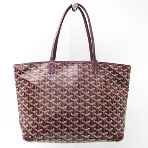 Goyard Artois PM Women's Canvas,Leather Tote Bag Bordeaux