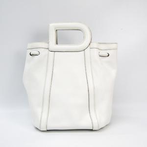 デルボー(Delvaux) D Bag レディース レザー ハンドバッグ ホワイト