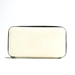 ヴァレクストラ(Valextra) V9L06 ユニセックス  型押しレザー 長財布(二つ折り) ホワイト