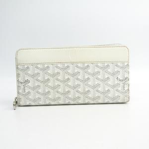 ゴヤール(Goyard) マティニヨン レザー,キャンバス 長財布(二つ折り) ホワイト