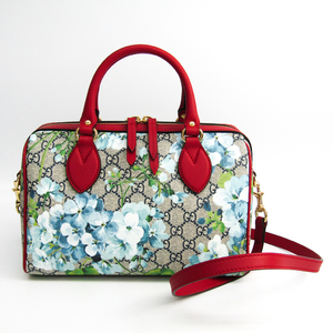 Gucci GG Blooms 546314 Women's GG Supreme,Leather Handbag Blue,Navy,Red