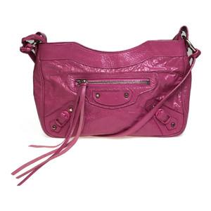 Balenciaga Giant 242803 Leather Shoulder Bag Pink
