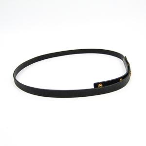 Louis Vuitton Ceinture Button Pression XS M68204 Women's Leather Belt Noir