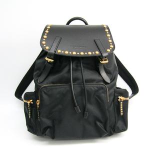 Burberry 3830888 Unisex Nylon,Leather Backpack Black
