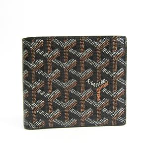 ゴヤール(Goyard) サン・フロランタン レザー,キャンバス 財布(二つ折り) ブラック
