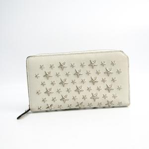 Jimmy Choo CARNABY Women's  Calfskin Long Wallet (bi-fold) Light Gray