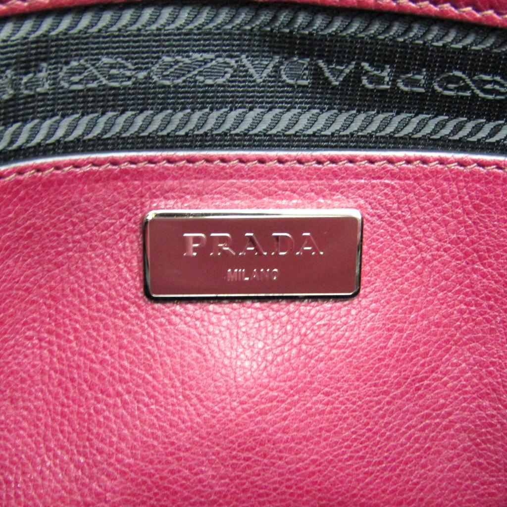 プラダ(Prada) B2625M レディース レザー ハンドバッグ アメジスト