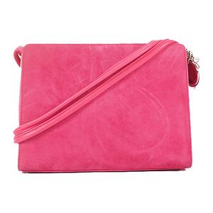 Christian Dior Lady Dior ShoulderBag Women's Suede Pink