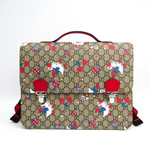 Gucci Children Goose / Bee / Ladybug / Heart 410791 Boys,Girls,Women GG Supreme,Leather Backpack Beige,Khaki,Red