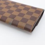 ルイ・ヴィトン(Louis Vuitton) ダミエ ポルト モネ クレディ N61724 レディース ダミエキャンバス 長財布(二つ折り) エベヌ