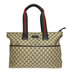 Gucci Sherry Line 155524 GG Canvas Tote Bag GG Beige