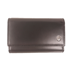 Cartier Unisex,Women,Men Leather Key Case Black