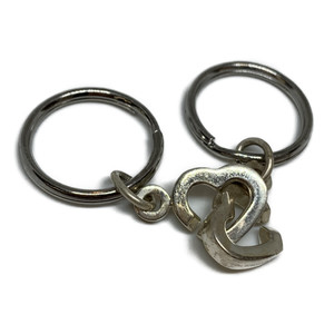 Tiffany Open Heart Double Heart Keyring