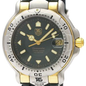 TAG HEUER 6000 18K Gold Steel Automatic Mens Watch WH5153